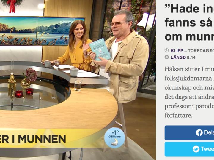 Björn och Pamela gästade Nyhetsmorgon