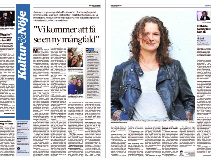 Stora lördagsintervjun i Kristianstadsbladet med yours truly