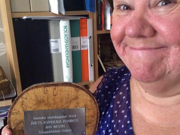 Ann Westin Årets kvinnliga komiker!