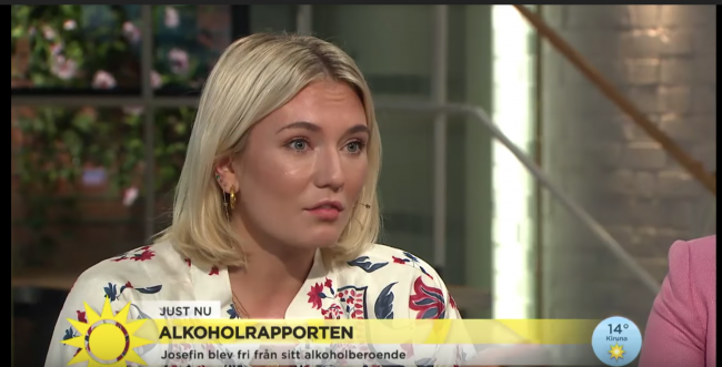 Josefin Dahlberg i Nyhetsmorgon – samarbete med Systembolaget